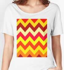 CHEVRON RED Women's Relaxed Fit T-Shirt