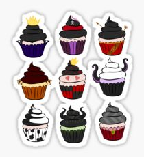 Villains cupcakes Sticker