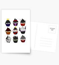 Postales Cupcakes de villanos