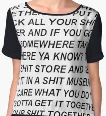 Rick and Morty Get Your Shit Together Women's Chiffon Top