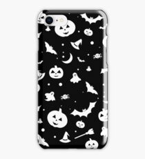 White Halloween Pattern iPhone Case/Skin