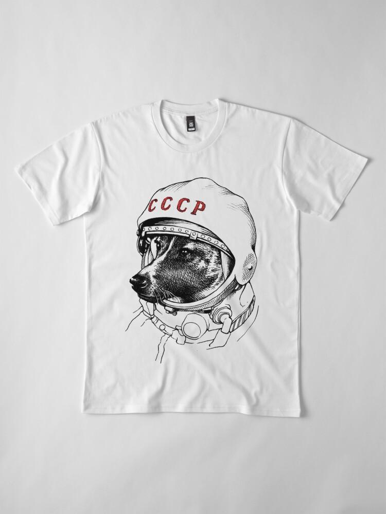 Alternative Ansicht von Laika, Weltraumreisende Premium T-Shirt