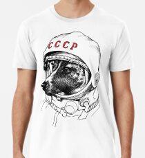 Laika, Weltraumreisende Männer Premium T-Shirts