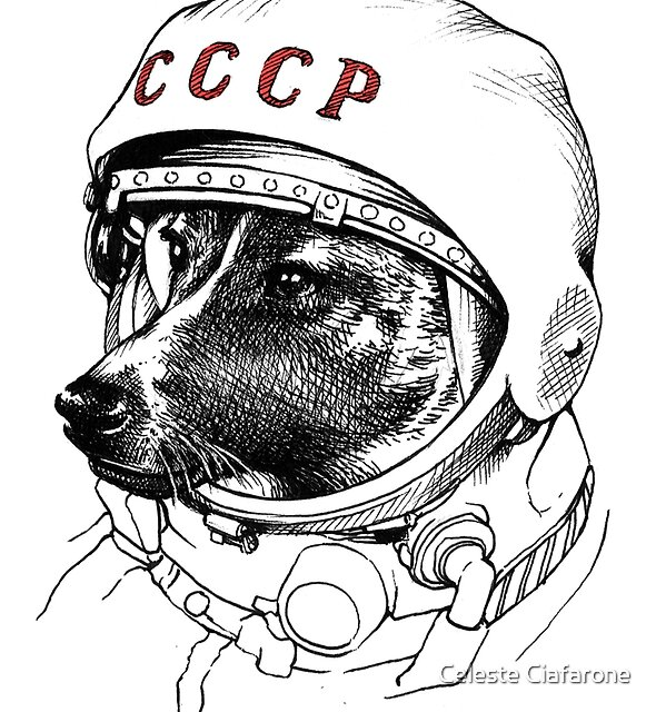 Laika, space traveler by Celeste Ciafarone