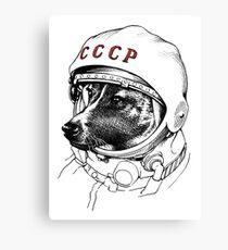 Laika, Weltraumreisende Leinwanddruck