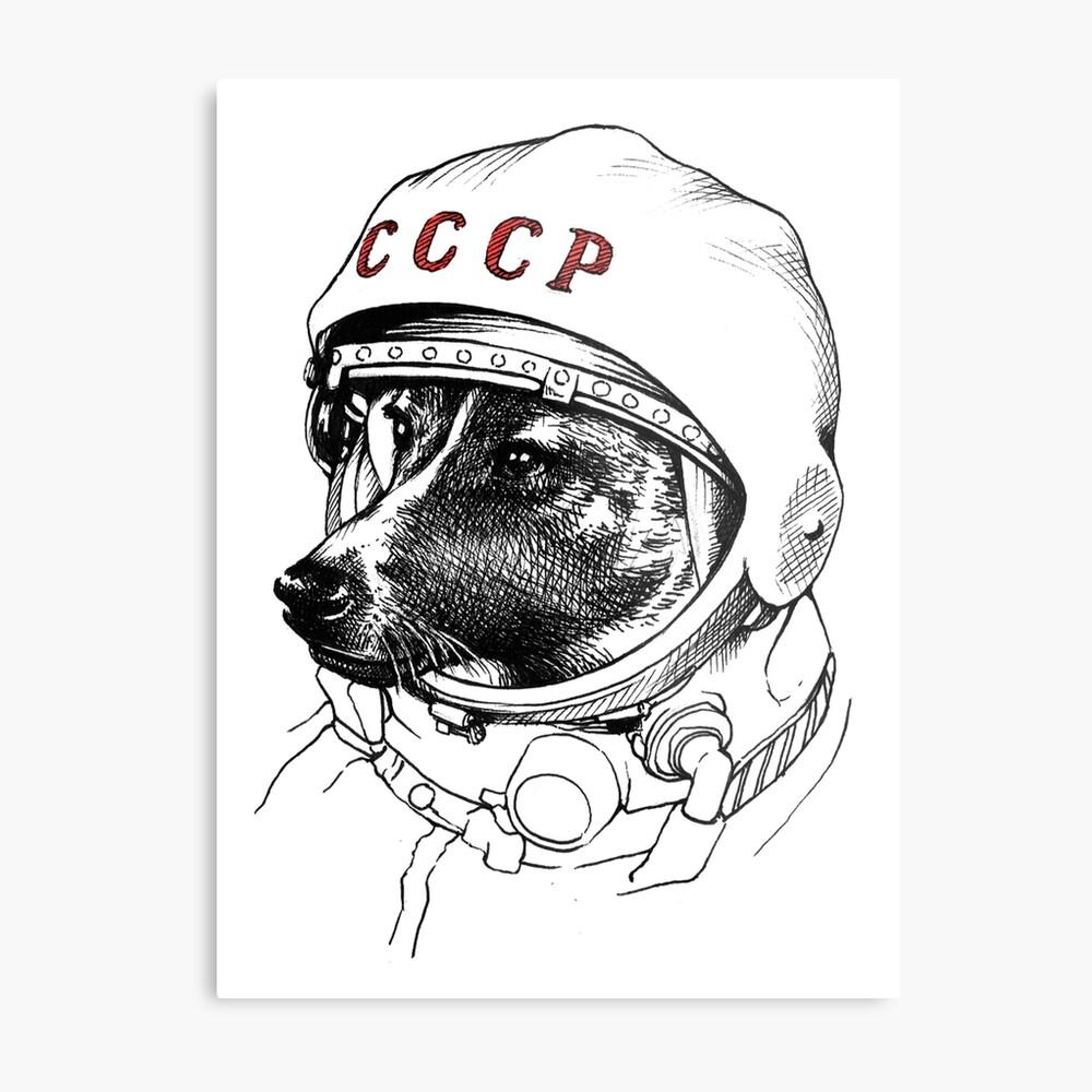 Laika, space traveler Metal Print