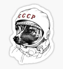 Laika, space traveler Sticker