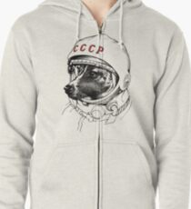 Laika, space traveler Zipped Hoodie