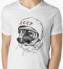 Laika, space traveler V-Neck T-Shirt