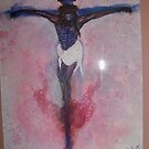 Jesus on The Cross (water Color) by RealPainter