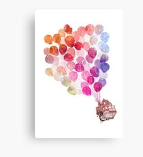 WaterColour Up House Canvas Print