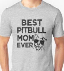 Best Pitbull Mom Ever Shirt, Funny Womens Pitbull Shirt Slim Fit T-Shirt