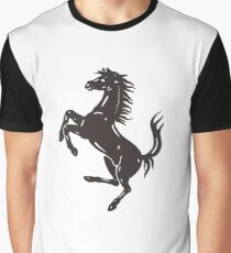 Ferarri Logo Merchandise Graphic T-Shirt