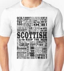 Scottish Sayings Print Black T-Shirt