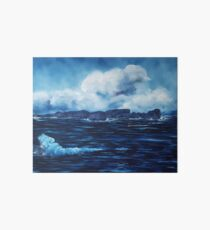 Tory Island, Wild Irish Sea. Landscape Painting Art Board