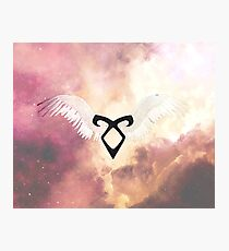 The mortal instruments : Shadowhunter rune - Angelic Power with wings Photographic Print