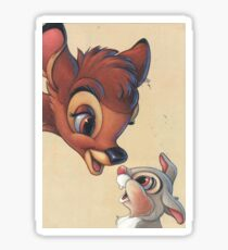 Sweet Bambi and Thumper Sticker