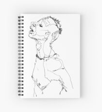 Simplefader-Character22 Spiral Notebook