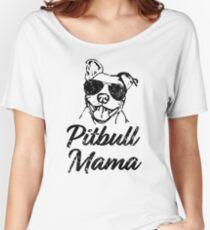 Pitbull Mama Funny Pit Bull Mom Shirt Relaxed Fit T-Shirt