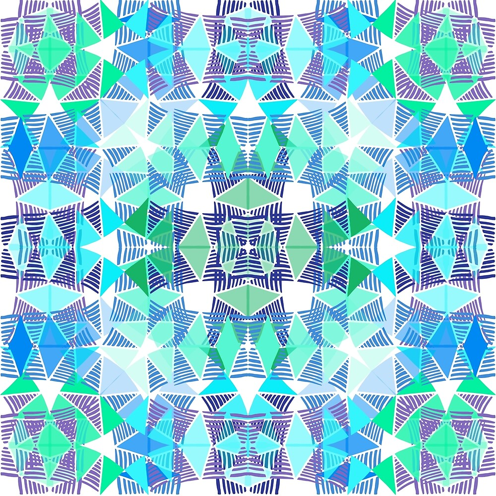 Colorful Tropical Abstract Zenspire Geometrical Pattern 3 by ThriveInk