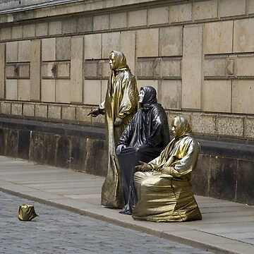 gold plated beggars by Wilba