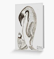 Mother and Chick. !! Greeting Card