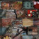 Brick Laden Graffiti by Theodore  Jones
