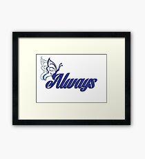 Caskett blue butterfly Framed Print