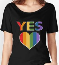 Yes to marriage equality Australia Women's Relaxed Fit T-Shirt