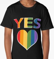 Yes to marriage equality Australia Long T-Shirt