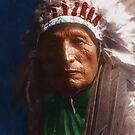Eagle Elk (He Xa Wan ba li) - Oglala - American Indian by DanKeller