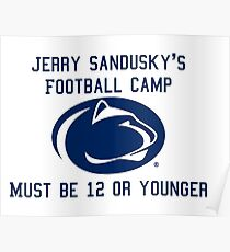 Sandusky's Football Camp Poster