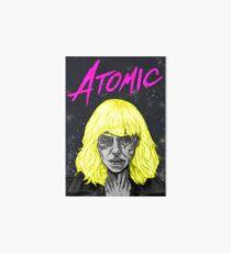 Atomare Blondine Galeriedruck