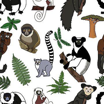 Lemur Pattern by wildlifeandlove