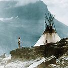 Echoes Call - American Indian Tipi Camp  by DanKeller