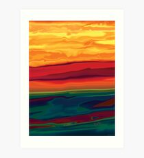 Sunset in Ottawa valley 1 Art Print