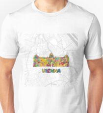Vienna, Austria, Colorful Map Sign T-Shirt