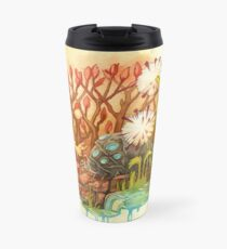 Teto and Baby Ohmu Watercolor Homage to Nausicaa Studio Ghibli Travel Mug