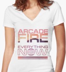 Arcade Fire - Everything Now Women's Fitted V-Neck T-Shirt