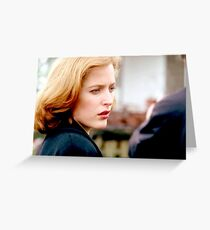 The X Files Scully Still Work Greeting Card