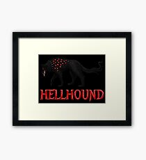 Hellhound Guardian of the Underworld Framed Print