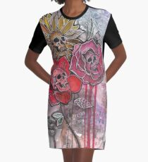 Skullflowers Graphic T-Shirt Dress