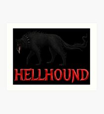 Hellhound Black Dog of the Night Art Print