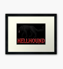 Hellhound Black Dog of the Night Framed Print
