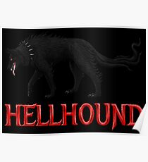 Hellhound Black Dog of the Night Poster