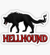 Hellhound Black Dog of the Night Sticker