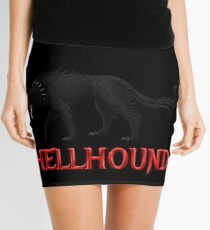 Hellhound Black Dog of the Night Mini Skirt