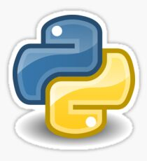 Pegatina Python Logo