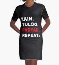 1afcc397 Kain Tulog Padyak Repeat - Funny Pinoy MTB Graphic T-Shirt Dress