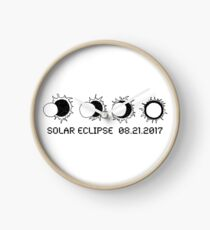 TOTAL SOLAR ECLIPSE AUG 21 2017 Clock